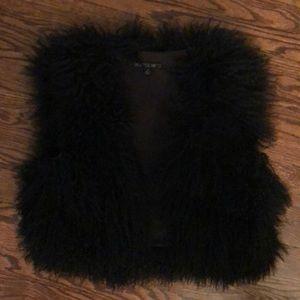 Lafayette 148 black lambswool vest